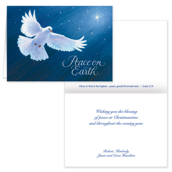 Dove of Peace Card Pers Set of 20