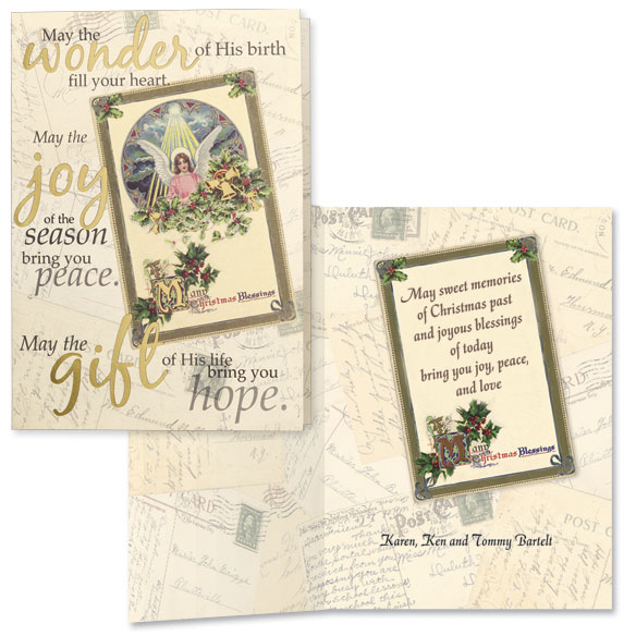Nostalgic Collage Christmas Card Set/20