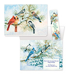 Birds and Bookmark Christmas Card