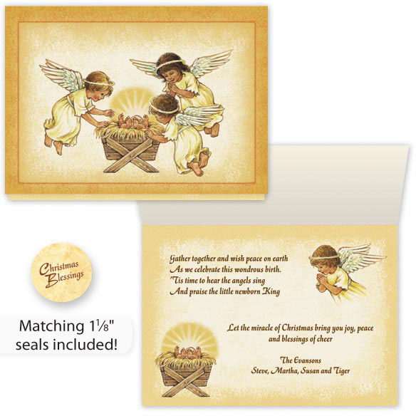Angels and Baby Christmas Card Set/20
