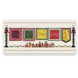Quilt Stitch Calendar Christmas Card