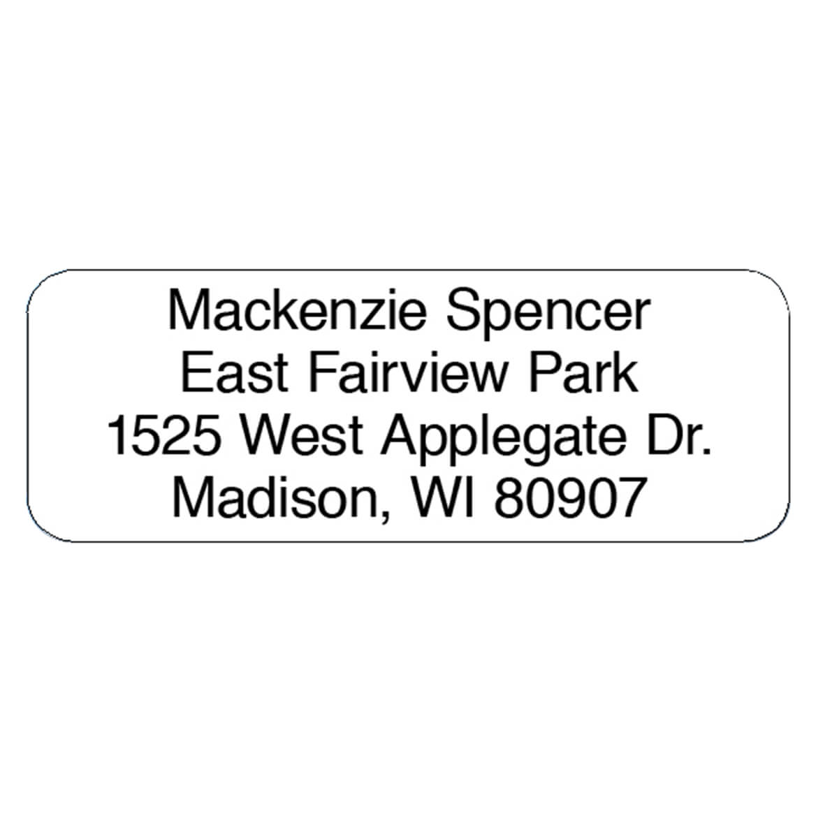Personalized Block Roll Address Labels, Set of 200-320119
