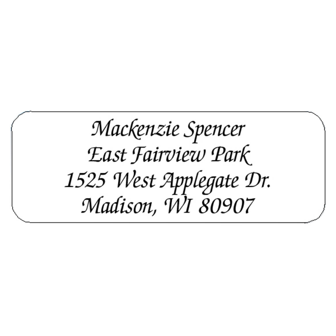 Calligraphy Personalized Roll Address Labels, Set of 200-320120