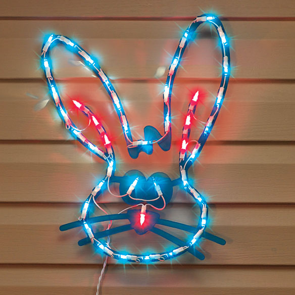 Lighted Easter Bunny Decoration