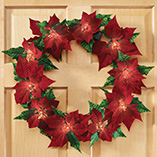 Poinsettia Wreath with Lights