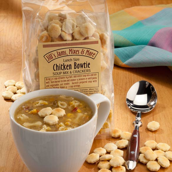 Luncheon Chicken Bowtie Soup Mix & Crackers