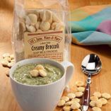 Soups & Pastas - Luncheon Creamy Broccoli Soup Mix & Crackers