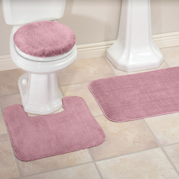 Plush Bath Rug Set Toilet Seat Cover And Rug Set Miles