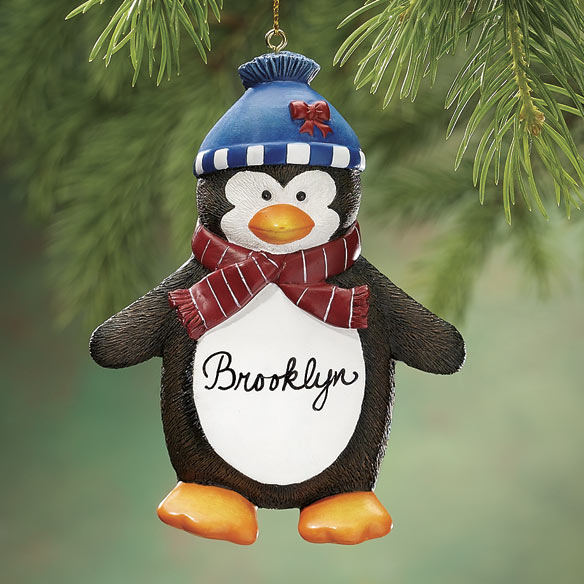 Personalized Penguin Ornaments