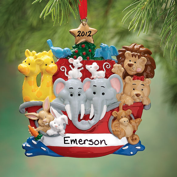 Personalized Noah's Ark Ornament