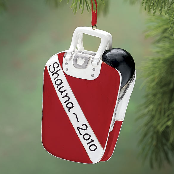 Personalized Bowling Ornament