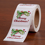 Address Labels & Seals - Merry Christmas Seals - Set Of 150