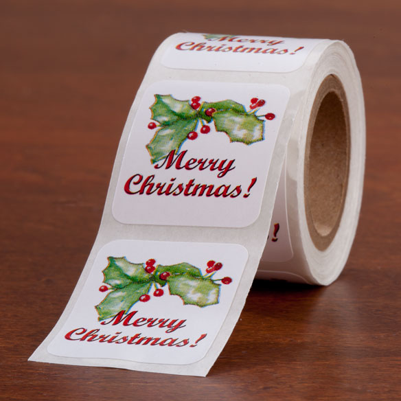 Merry Christmas Seals - Set Of 150