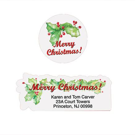 christmas address labels envelope seals miles kimball
