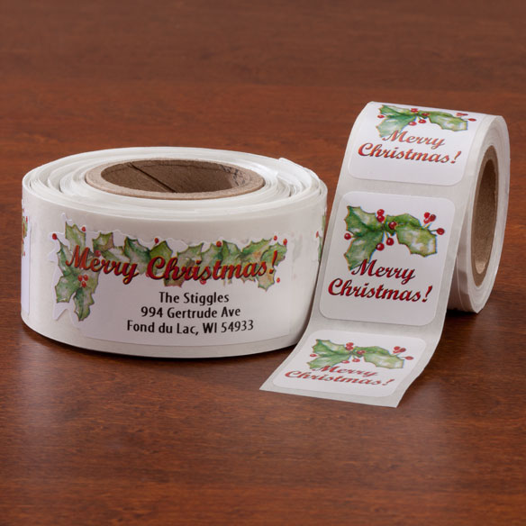 Merry Christmas Labels And Seals - Sets Of 150