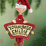 Milestones - Mom's Favorite Youngest Child Ornament