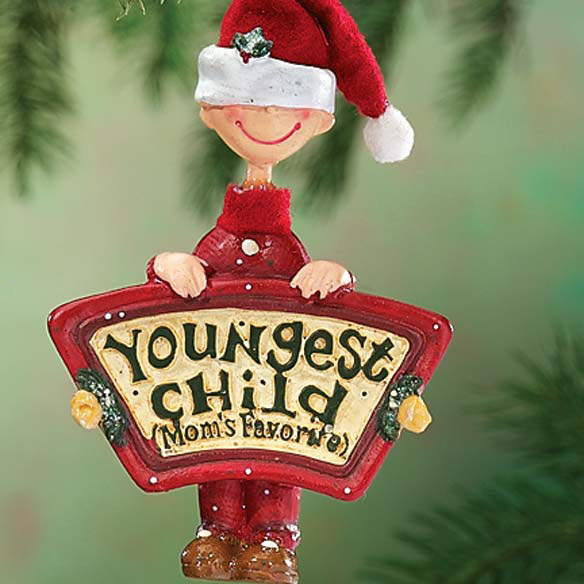Moms Favorite Youngest Child Ornament