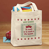 Apparel, Wallets & Jewelry - Personalized Teacher Tote
