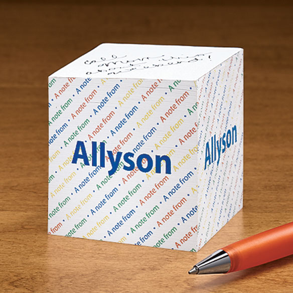 Personalized Self-Stick Note Cube