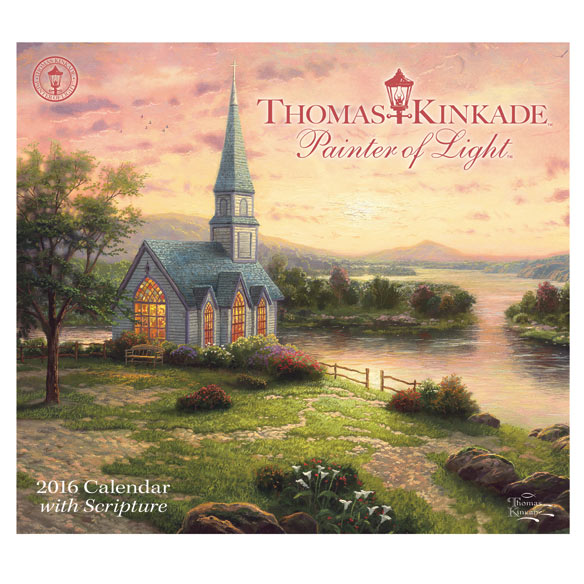 Thomas Kinkade Scripture Wall Calendar - View 1