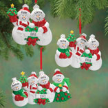 Christmas & Holidays - Personalized Snow Family Ornament