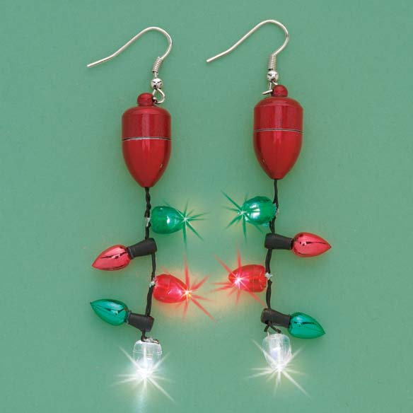 Flashing Christmas Earrings