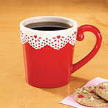 Valentines Day - Valentine Eyelet Mug