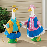 Cowgirl and Cowboy Goose Outfits