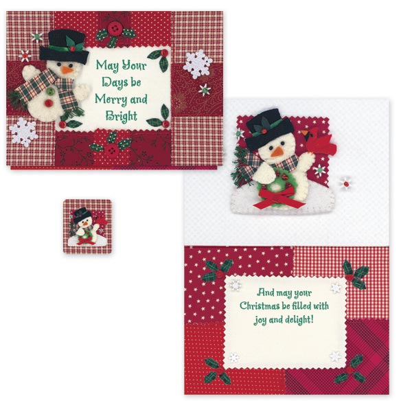 Calico Snowman Card Set