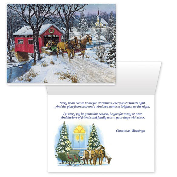 Home For Christmas Card Set