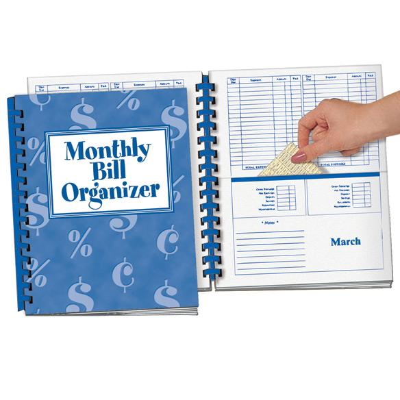 Monthly Bill Organizer Bill Organizer Book Miles Kimball