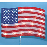 4th of July - Lighted American Flag