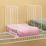 Storage & Organization - Wire Closet Shelf Dividers