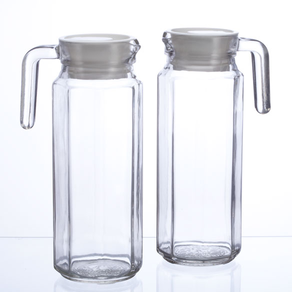 Glass Pitchers Set of 2