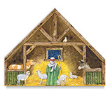 Nativity Stand Up Christmas Card