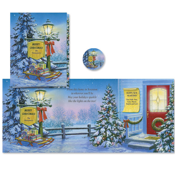 Inviting Lamppost Christmas Card Set/20