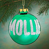 Personalized Name OR Date Glitter Ornament
