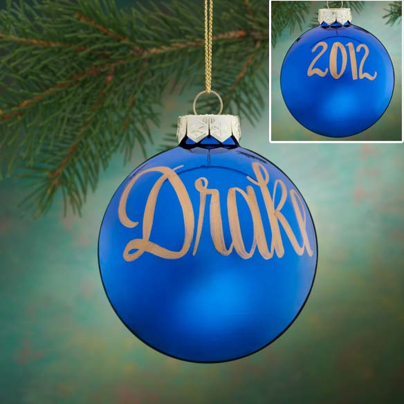 Personalized Name And Date Painted Ornament
