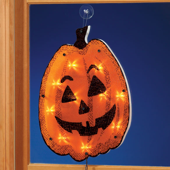 Shimmer Pumpkin Window Plaque
