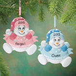 Ornaments - Personalized Snowbaby's First Christmas Ornament