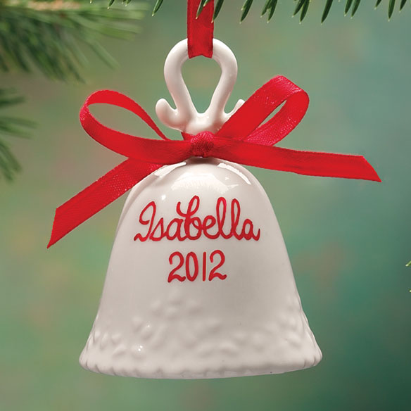 Personalized Porcelain Ornaments - Bell