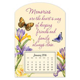 Home Office - Mini Magnetic Butterfly Calendar