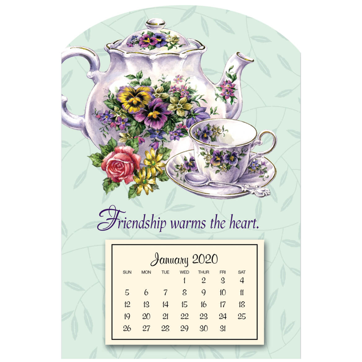 Mini Magnetic Teapot Calendar