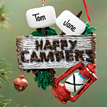 Personalized 2 Happy Campers Ornament