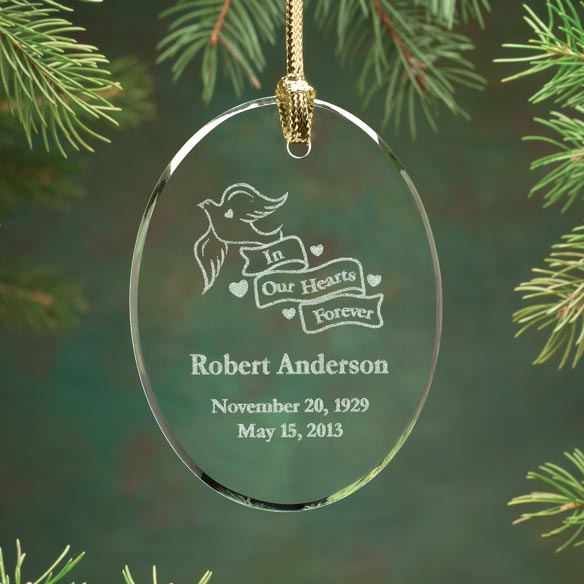 Personalized Memorial Glass Ornament
