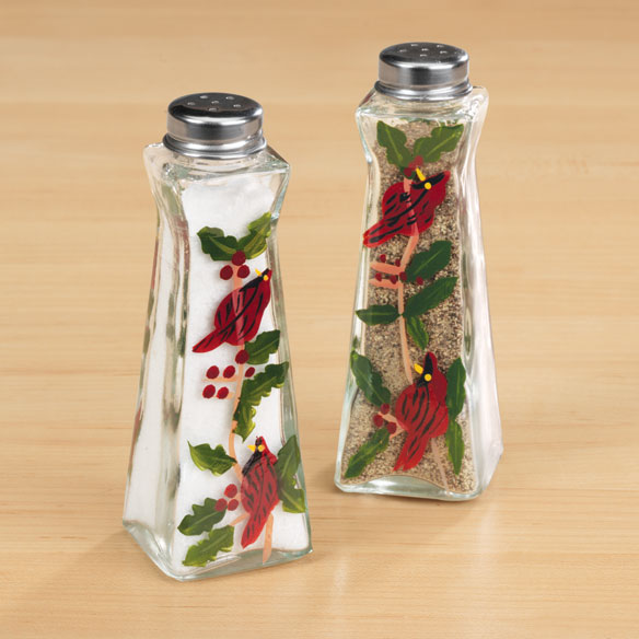 Cardinal Salt And Pepper Shakers