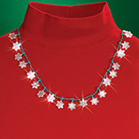 View All Jewelry & Keychains - Flashing Snowflake Necklace