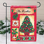 Personalized Holiday Garden Flag