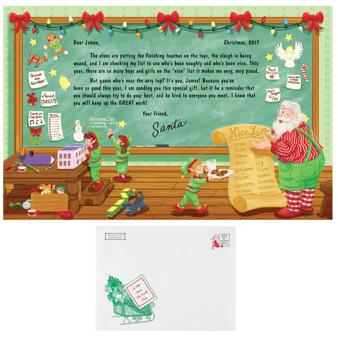 Personalized Santa's Nice List Letter