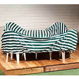 "Patio & Grill - Reversible Rectangular Table Set Cover - 108"" x 90"" x 30"""